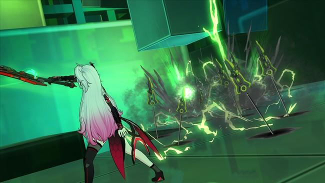 スキル「マンバスコイル」:スピアを斬り上げ地を這うスピアが敵を連続攻撃!