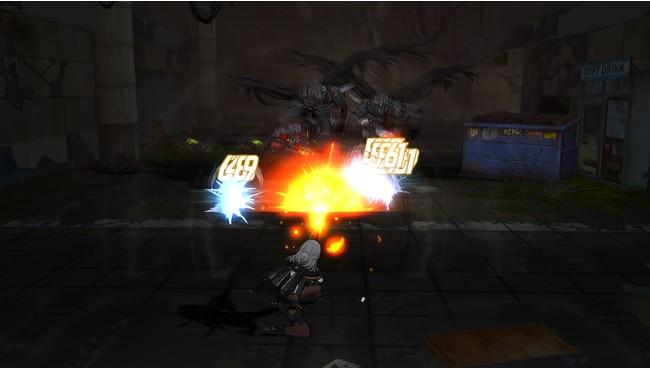 狙撃をする「ナビ」。なるべく遠距離で敵を寄せ付けずに戦うのがコツだ!