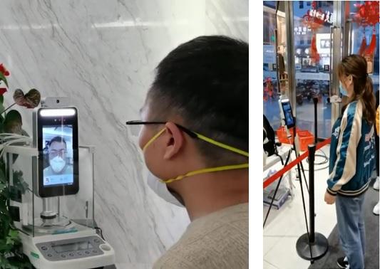 オフィスとスーパー入口での実用例