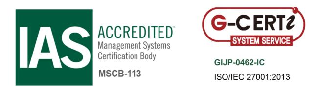 ISO/IEC 270012013(情報セキュリティマネジメントシステム)のマーク