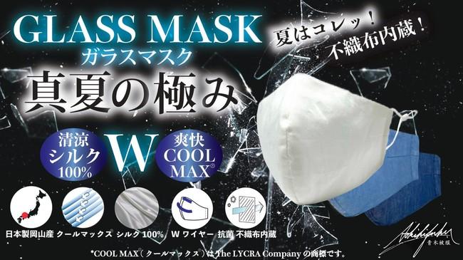 真夏の極みガラスマスク