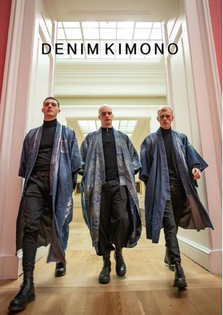 青木被服がパリで発表したDENIM KIMONO COLLECTION