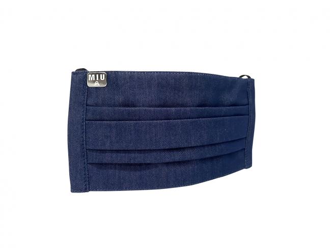 MIU BLUE 反応染デニムを使用した[MIU404]からインスパイアされた青木被服製デニムマスク