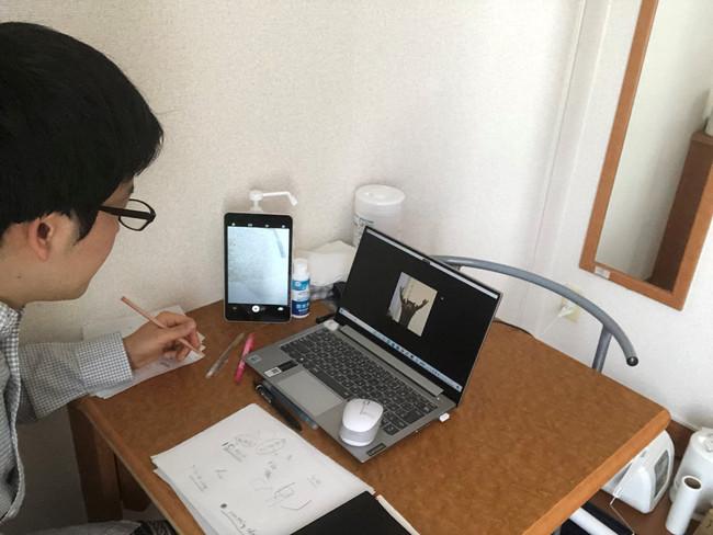 在宅で海外とオンラインでつながり、研修を受けられる