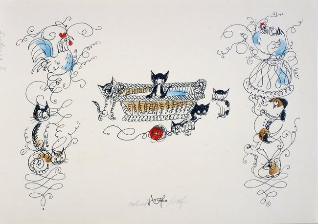 ハンス・フィッシャー 絵本『こねこのぴっち』より 小さな絵本美術館蔵 (C)ハンス・フィッシャー