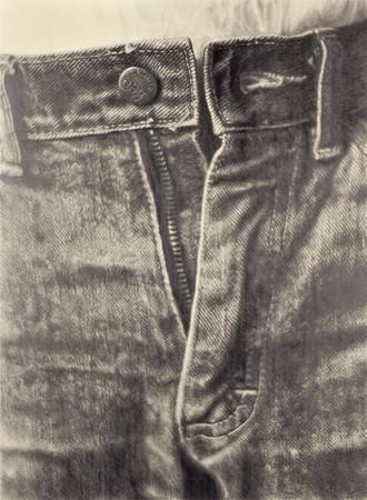 《ジーンズ》1983 鉛筆/紙