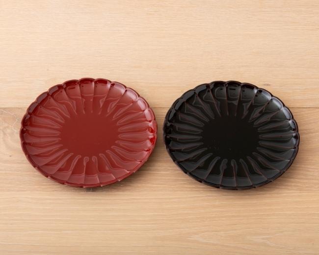 山中塗 菊皿 ¥2,400