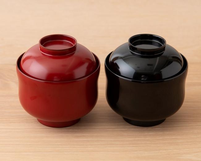 瓢箪型小吸椀 福良雀(黒)(朱) 各¥3,200
