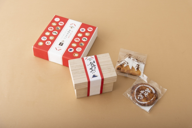 金時せんべいボックス入り ¥888/木箱入り ¥1,200