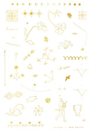「opnner」Kaho Iwaya氏によるゴールドのNEWタトゥー