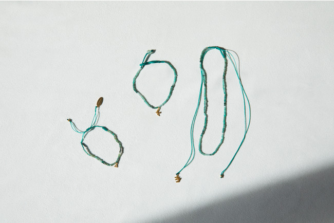 「I am」donation choker 6,600yen (with tax) 「I am」donation anklet 5,500yen (with tax)「I am」donation bracelet 4,400yen (with tax)