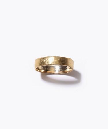 <[basic] K10 wide ring 29,700yen (with tax)/K10YG+K18YG plating>