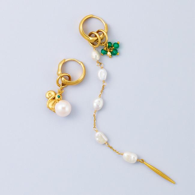 TOY CHARM pierced earrings coordinate.01