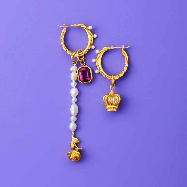 TOY CHARM pierced earrings coordinate.02