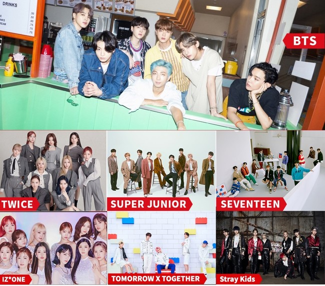 写真提供  Big Hit Entertainment、JYP ENTERTAINMENT、Label SJ、PLEDIS Entertainment、OFF THE RECORD ENTERTAINMENT、SWING ENTERTAINMENT
