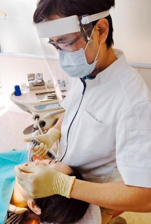 フェイスシールド利用実例(歯科)