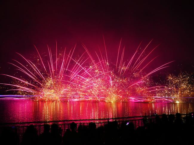 那須高原唯一の湖を活用した花火大会