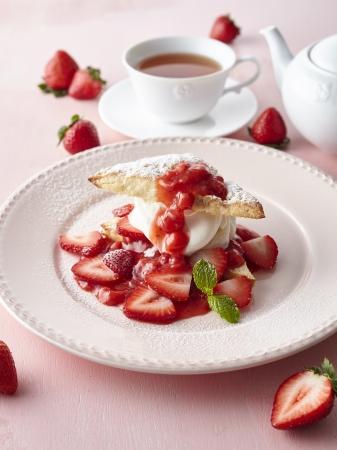 苺のスコーンショートケーキ