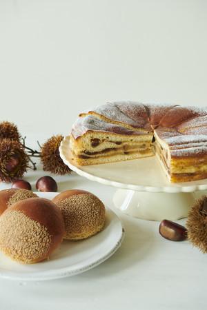 栗のクリームパン+マロンクリームミルフィーユ