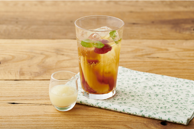 ぶどうと洋梨のラ・フランスティーソーダ(ラ・フランス香料使用)
