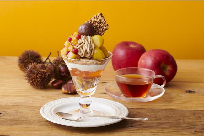 渋皮栗と林檎のモンブランパフェ2