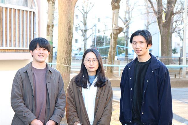 設計者(左から川田さん、加藤さん、藤沢さん)
