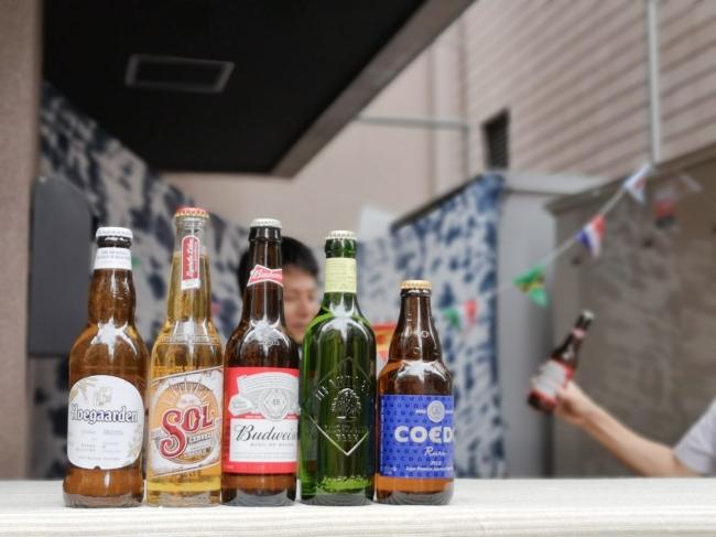 世界のビールをご用意