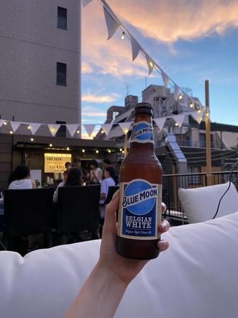 アメリカのビール「ブルームーン」。この日にぴったりのビールです