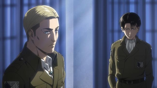 「エルヴィン(左)」と「リヴァイ(右)」 (イメージ)