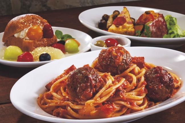 名物グルメ「ミートボール・スパゲティ」など本格イタリアンメニューを