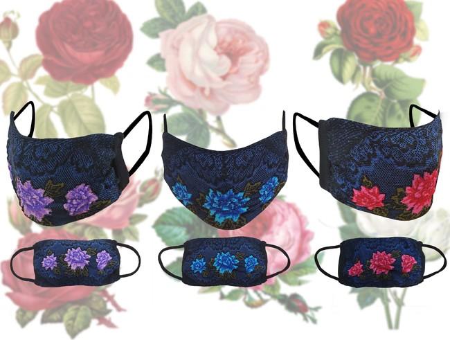 3種類の薔薇ニット