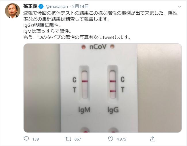 孫正義氏ツイッターより引用