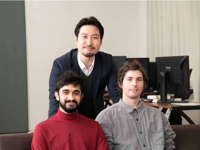 右からCEOテオ・ゴーチェ、COO松村宗和、CSEジャワド・タリク
