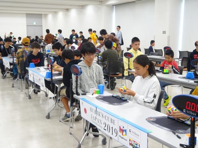 ルービックキューブ日本大会2019の様子