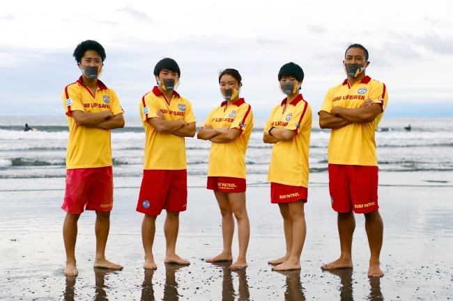 西浜サーフライフセービングクラブのメンバー