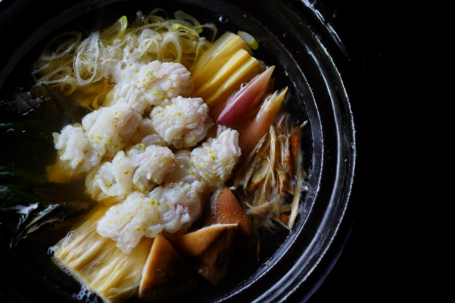 天然鱧と加賀野菜のお鍋