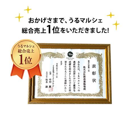 沖縄県内最大級の直売所うるマルシェで総合売上1位を獲得!