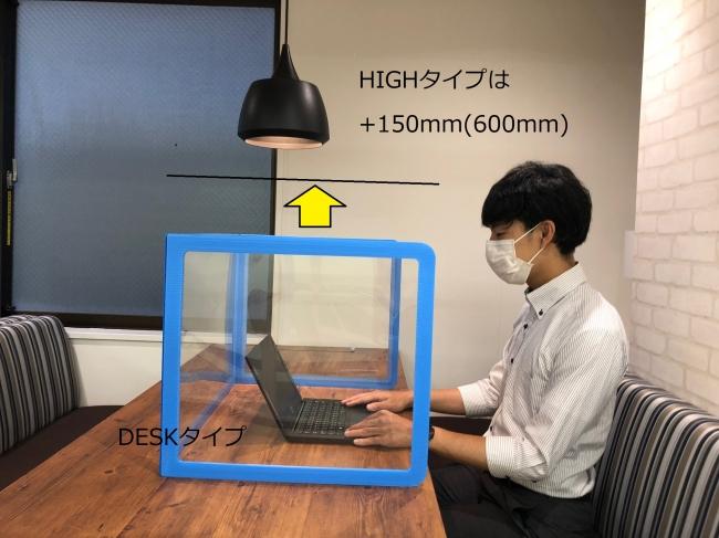 卓上シールド「DESK」タイプ(従来サイズ)使用イメージ