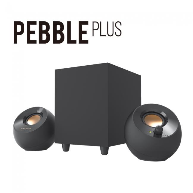 Creative Pebble Plus_w_logo