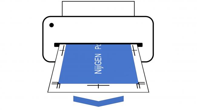 作品の詳細「用紙のサイズと厚み」「用紙の種類」を確認し、プリントアウトしてください。