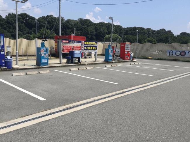 広い洗車エリア