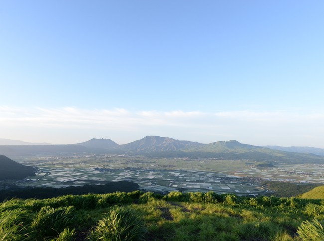 大観峰からみる阿蘇五岳