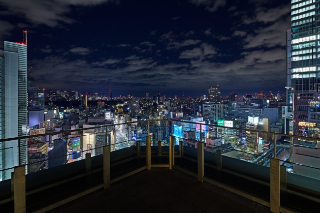 夜には煌びやかな渋谷の絶景が望めます