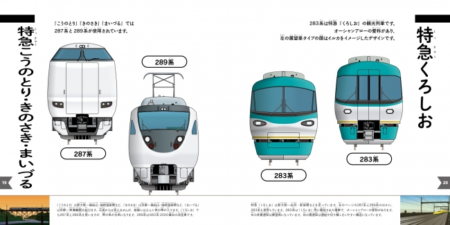 JRの特急は列車名ごとに掲載。