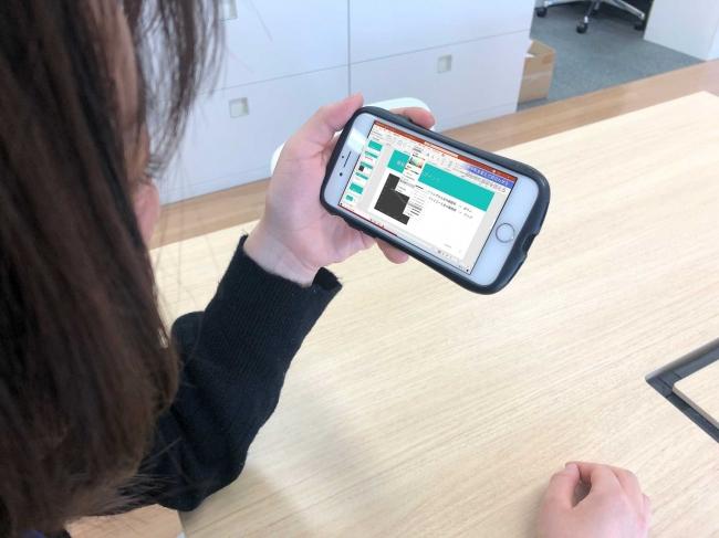 動画版 世界一やさしいパワーポイント 2019のスマホアプリでの視聴シーン