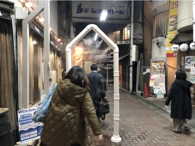 赤羽1番街シルクロード商店街入り口の様子