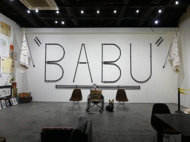 BABU個展「障害+ART 50-0」(2019、GALLERY SOAP)インスタレーションビュー