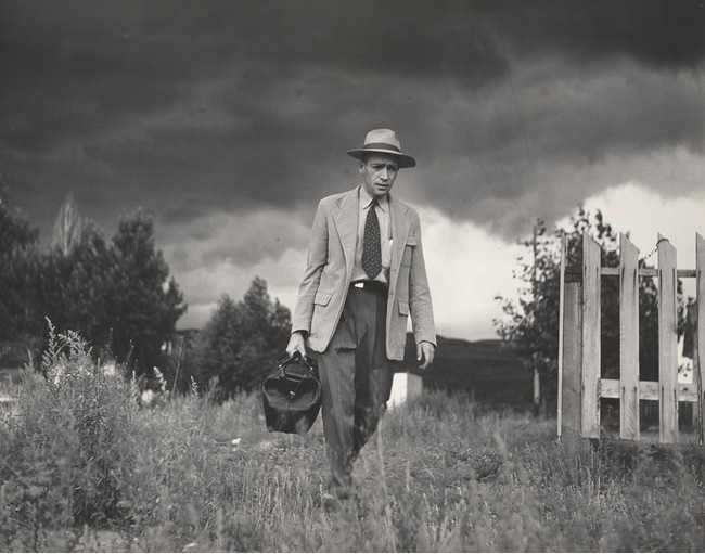 'Dr. Ceriani Going from House to Hospital,' Country Doctor. © 1948, 2021 The Heirs of W. Eugene Smith