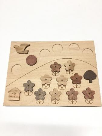共同開発おもちゃ「木製パズルゲーム」