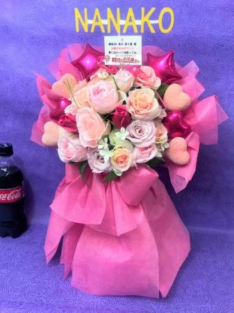 ▲フラスタをイメージした造花で作成したお客様のご自宅届けのミニフラスタ